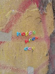 Sticker auf der Körner Straße