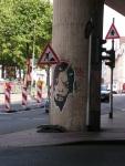 Paste-Up auf der Subbelrather Straße