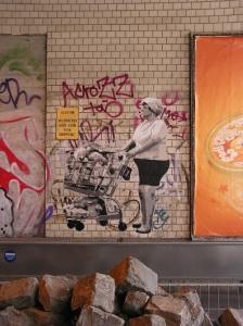 Paste-Up auf der Maybachstraße