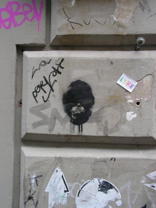 Stencil auf der Brüsseler Straße
