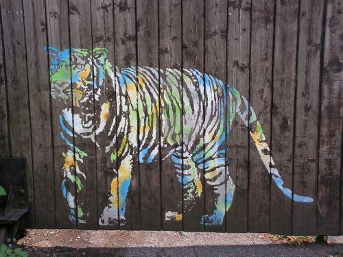 Stencil auf der Lichtstraße
