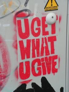 Stencil auf der Vogelsanger Straße