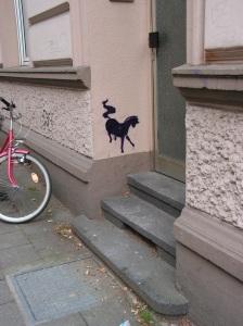 Stencil auf der Bagelstraße