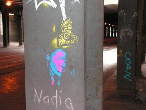 Stencils auf der Ellerstraße