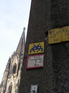 Space Invader am Dom by Invader