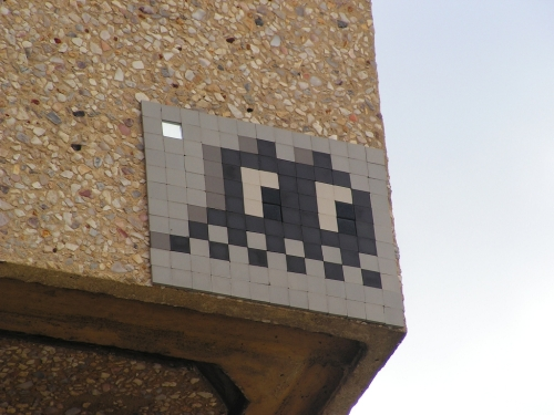 Space Invader by Invader Perth Macces