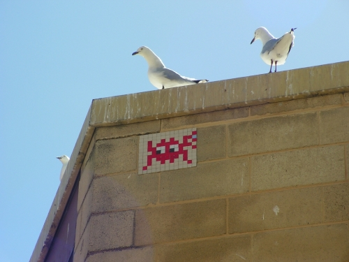 Space Invader Perth Art Galery
